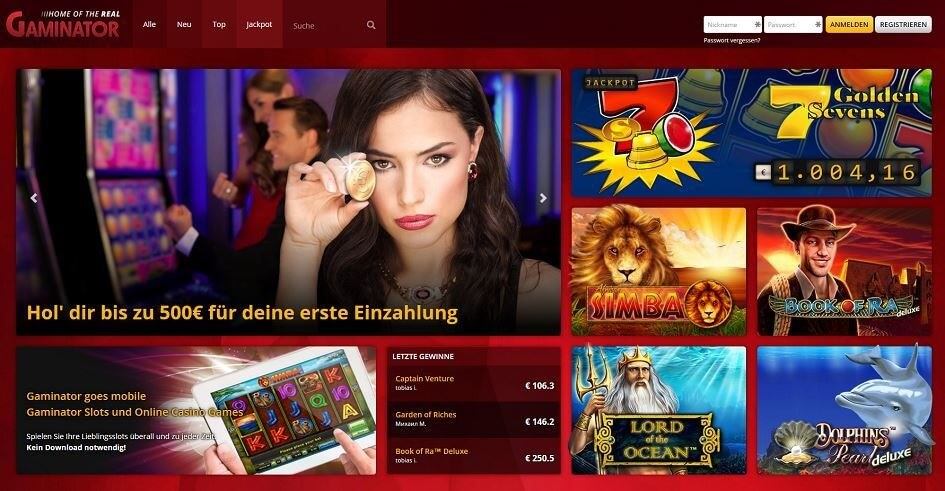 top online casino book of ra gaminator
