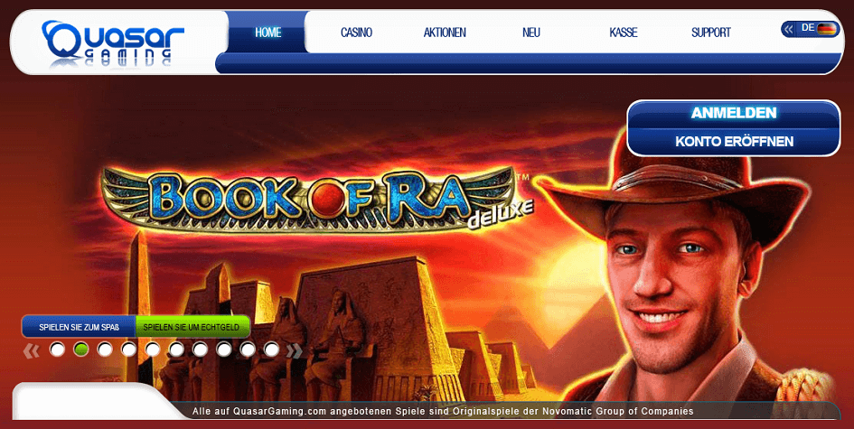 casino online book of ra sizzling hot