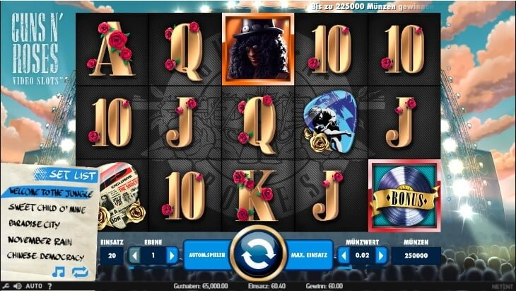 Guns N Roses slot – spil online spil gratis