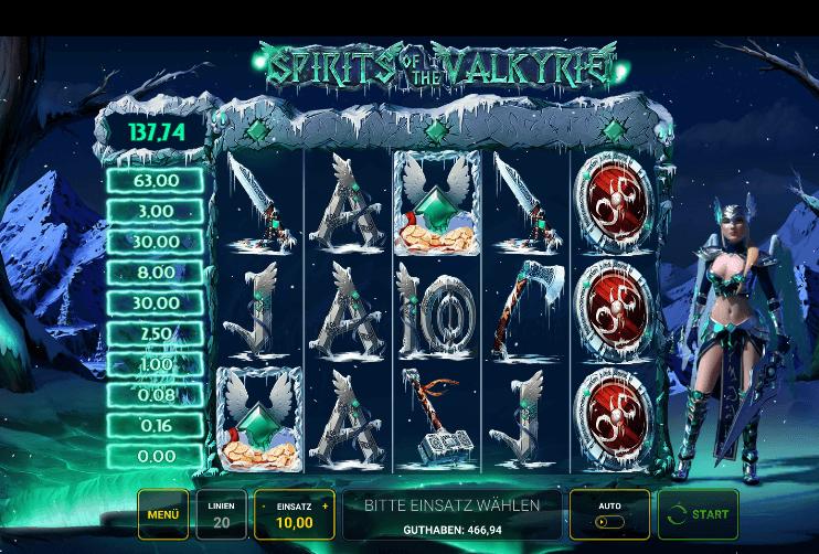 Spirits of The Valkyrie Novoline gratis spielen