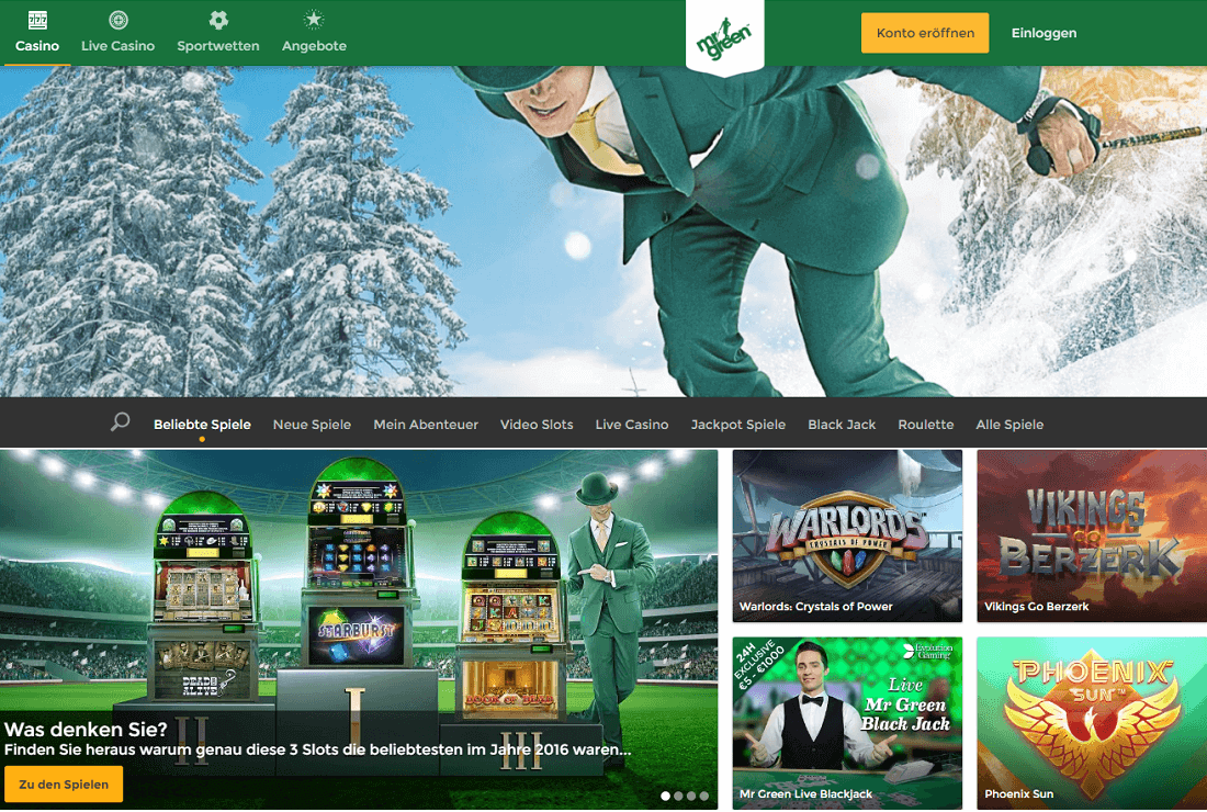 Mr Green Merkur Casino