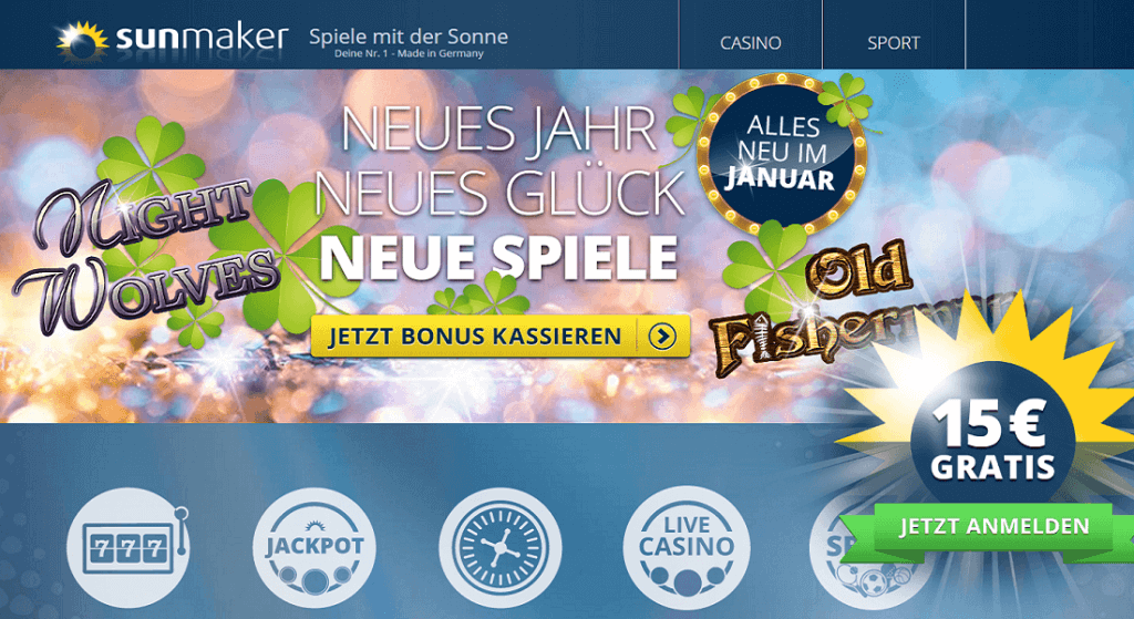 Online Casino Spiele Sunmaker Merkur