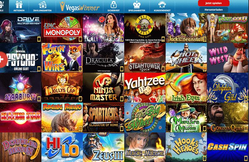 VegasWinner Casino Spiele