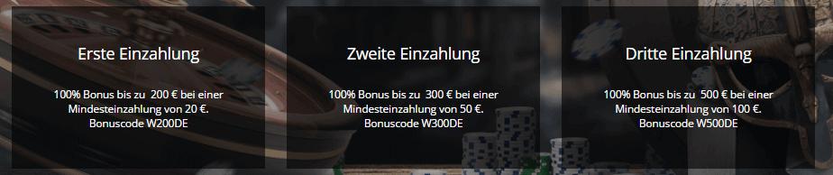 Willkommens Bonus im Viks Casino