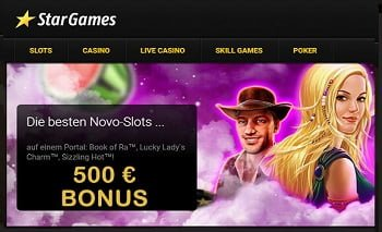 Stargames 500€ Bonus