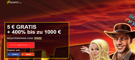 77 jackpot 5 euro gratis