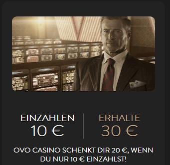 20 Euro gratis Bonus im OVO Casino