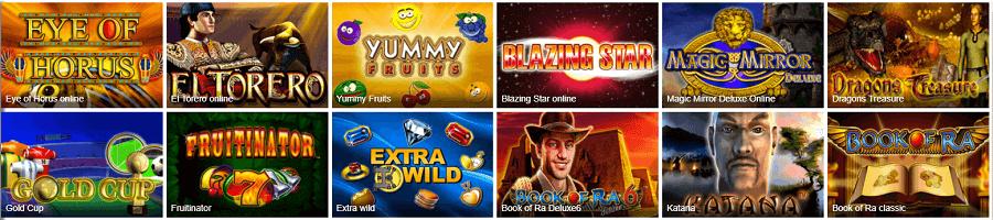 Novoline und Merkur Spiele im Ares Casino