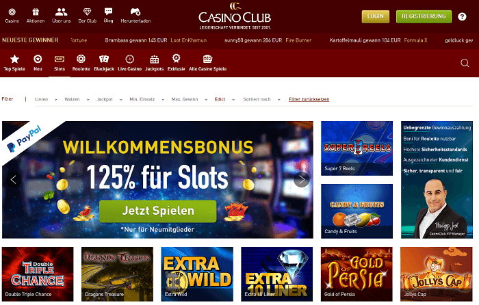 Casino Club Merkur Spiele