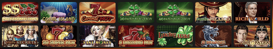 EGT Spiele im Four Crowns Casino