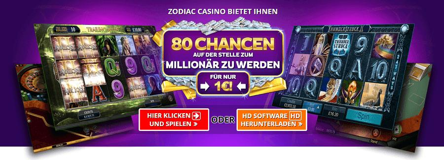 1€ rein mit 20€ spielen