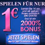 1€ einzahlen mit 20€ spielen im Zodiac Casino
