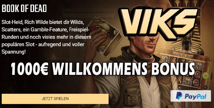 viks casino book of dead