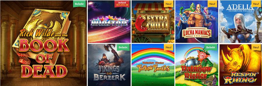 Spiele im DrückGlück Casino