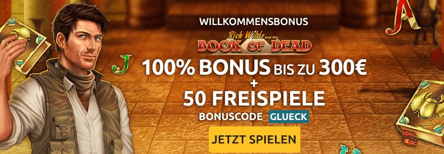 DrückGlück 50 Freispiele Bonus