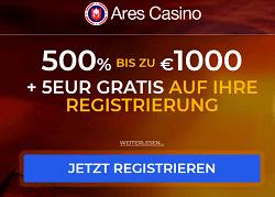 Ares Casino 5 Euro gratis Novoline