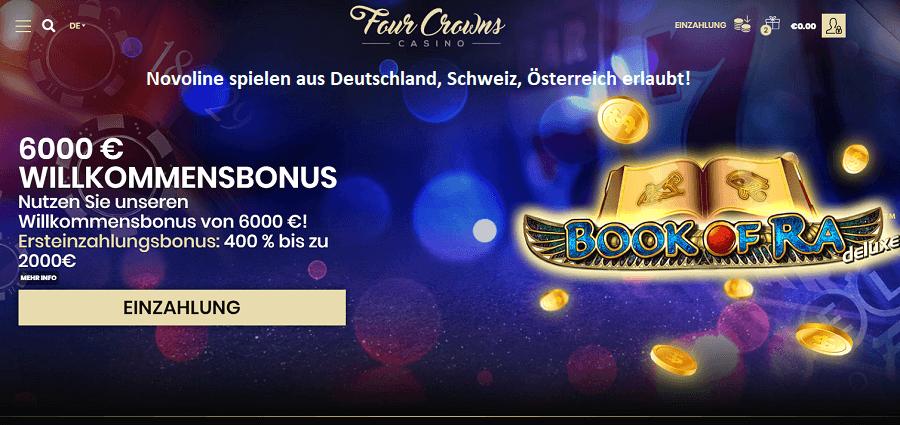Four Crown Casino 400% Bonus für Deutschland