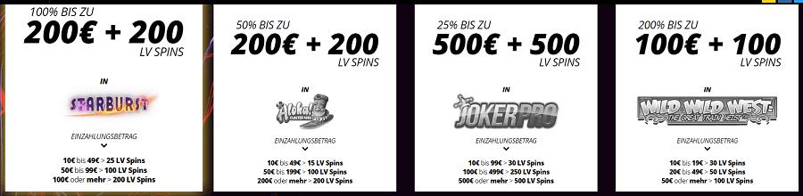 LVbet Spins Bonus