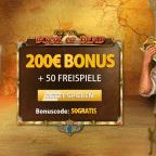 50 Book of Dead Freispiele + 200 € Bonus im NetBet