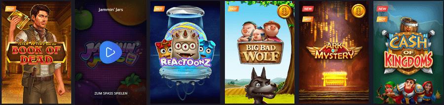 Twin Casino Play´n Go und Novoline Spiele
