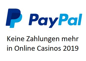 PayPal 2019 - verlässt Online Casinos