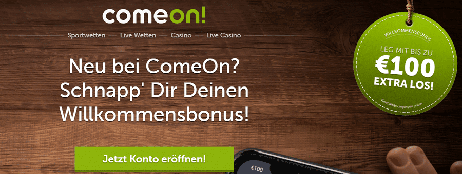 Comeon Slots - Stakelogic, Gamomat, Live Casino, sportwetten