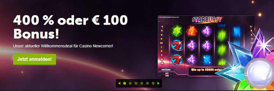 Comeon Slots - Willkommens Bonus