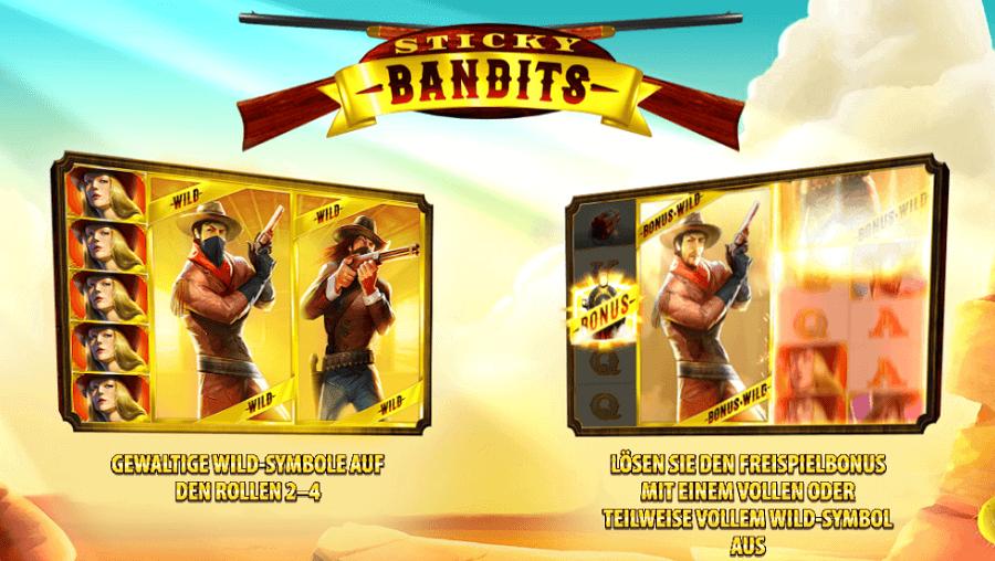 Sticky Bandits Slot kostenlos spielen