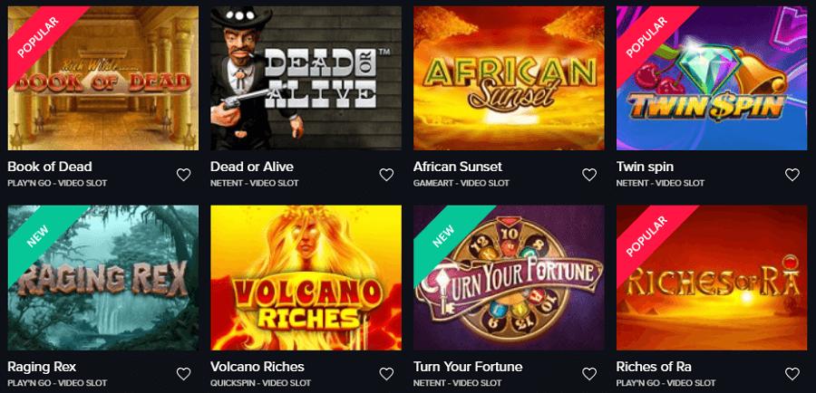 Beliebte Spiele im Faiplay Casino