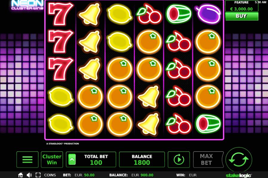 Neon Cluster Wins Kostenlos spielen