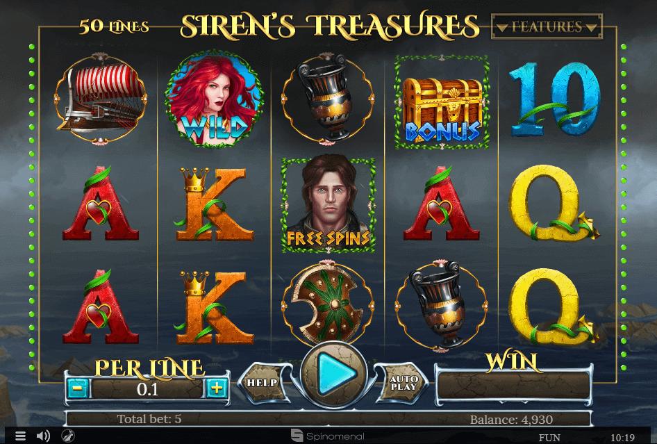 Sirens Treasure kostenlos spielen