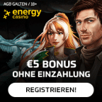 5 Euro gratis Bonus ohne Einzahlung - Energy Casino