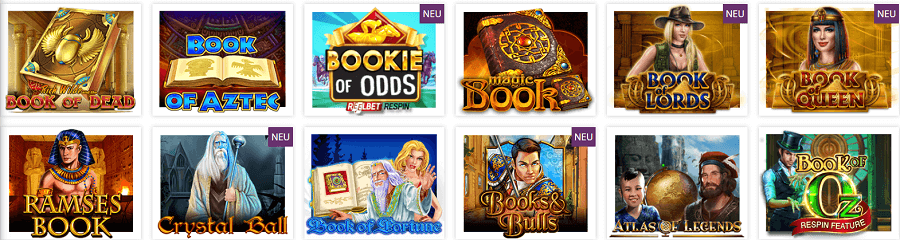 Book of Spiele im Lord Lucky Casino