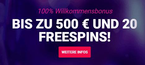 Party Casino gratis Freispiele und Willkommen Bonus