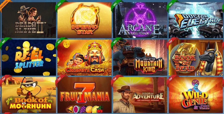Spielautomaten im Sunmaker Casino