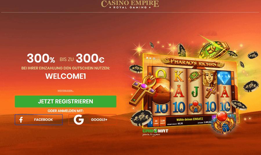 Casino Empire 300% Gamomat Bonus