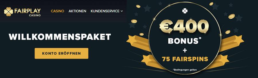 Fairplay Casino Bonus 200% und 75 Fairspins