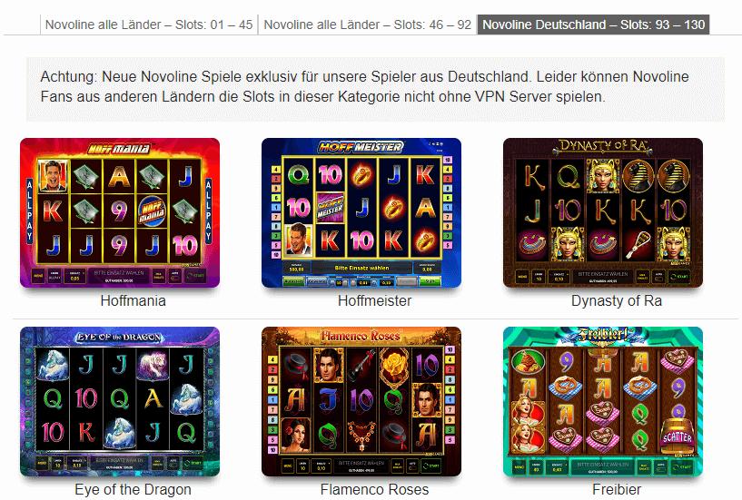 Neue Novoline Spielautomaten kostenlos