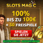 Slots Magic 100 Euro Bonus plus 50 Freispiele