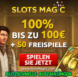 Slots Magic Casino - 50 Freispiele plus 100% Bonus