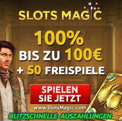 Slots Magic Freispiele plus 100% Bonus