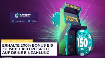 Betzest 200 Prozent Bonus