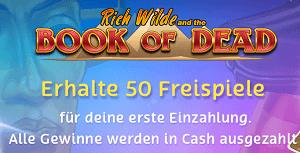 Casino ohne Bonus - 50 Freispiele Book of Dead kein Umsatz