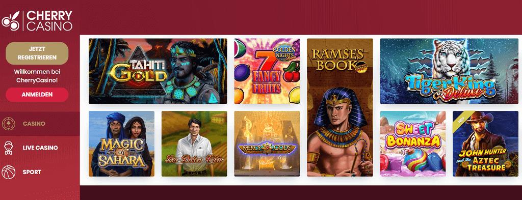 Cherry Casino Willkommens Bonus und Freispiele