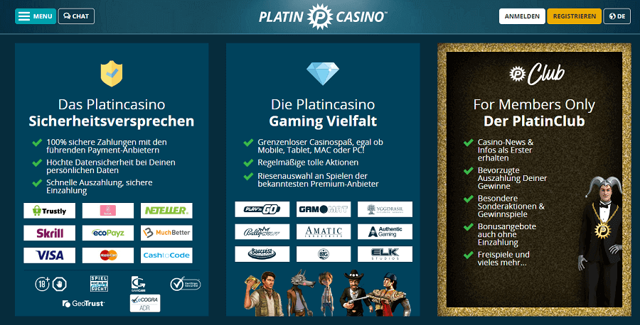 Platin Casino Anmelden Bonus