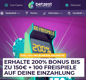 Betzest 200% Bonus Angebot