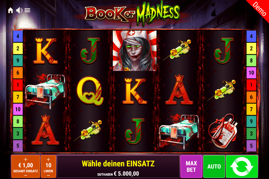 Book of Madness Gamomat gratis spielen