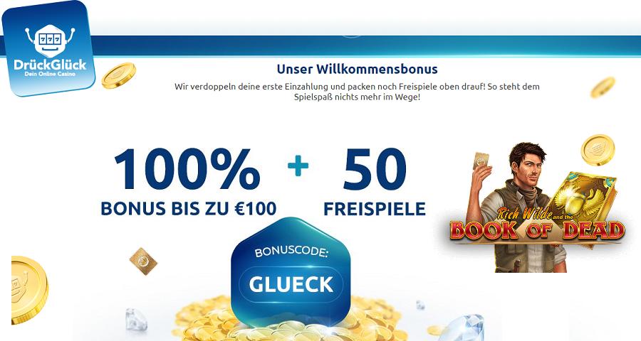 Drück Glück Casino Bonus und Freispiele