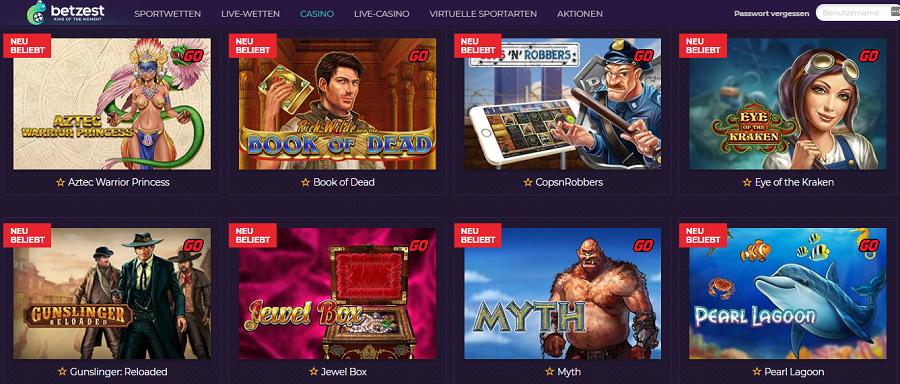 Playn Go Spielautomaten im Betzest Casino