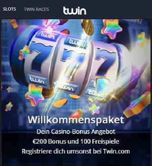 Twin Glücksspiel Willkommen Bonus